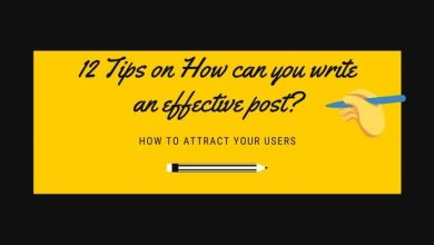 How can you write an effective post
