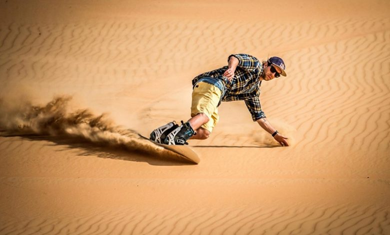 Sandboarding in Paoay
