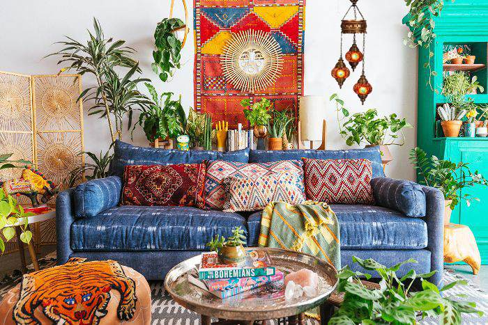 bohemian decor for living room