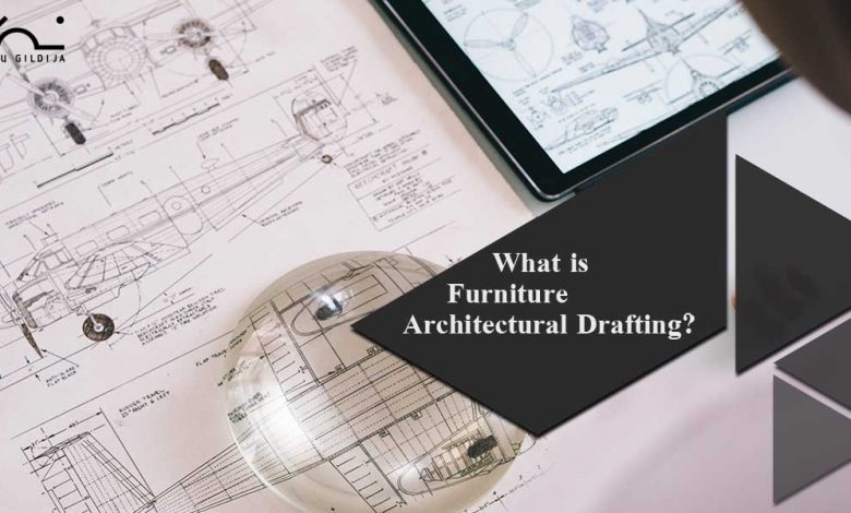 Furniture architectural drafting