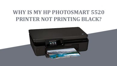 HP Photosmart 5520 Not Printing Black Ink Issue