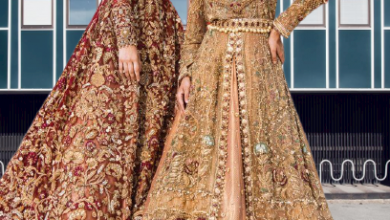 Pakistani bridal wear bright colors and great design bridal dress
