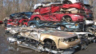 wrecked car yard