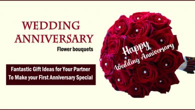 anniversary flowers- Fantastic Gift Ideas for Your Partner to Make your First Anniversary Special
