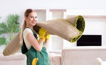 Step by step clean an oriental rug