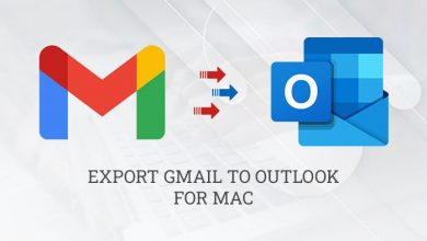 Export Gmail emails to Outlook for Mac